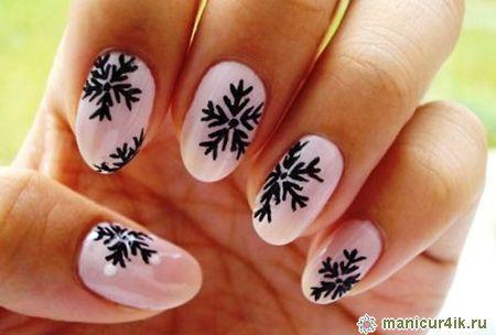 Рисунок на ногтях нарисовать