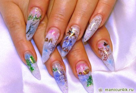 Новогодние рисунки на ногтях  идеи для дизайна
