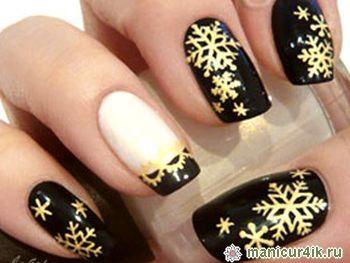 Фото шеллака на ногтях дизайн новогодний