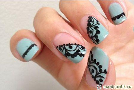 дизайн ногтей с кружевом фото: