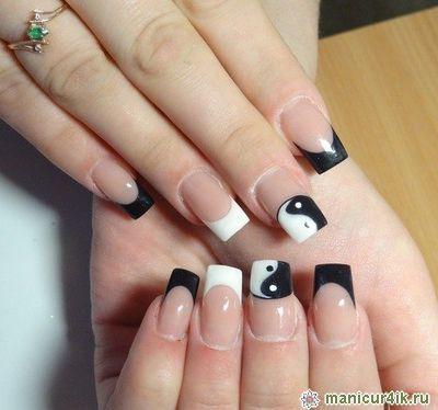 Квадратный френч - фото идей дизайна ногтей - Best Маникюр 87