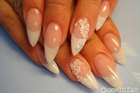 Объемная лепка на ногтях