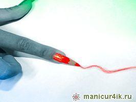 Рисунки карандашами на ногтях