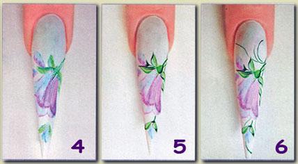 Рисунки карандашом на ногтях