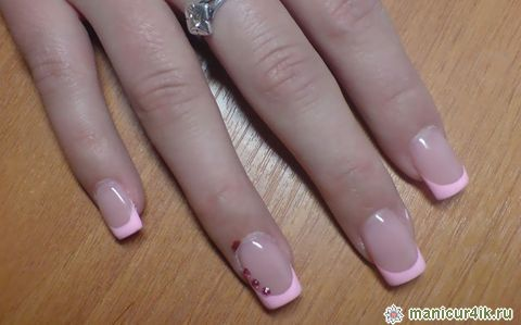 фото розовый френч