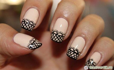 дизайн ногтей зима: