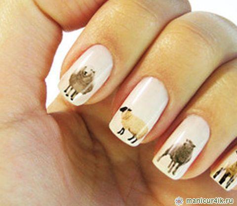 Дизайн ногтей на год обезьяны фото