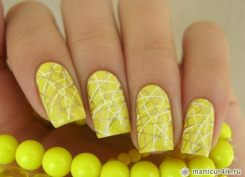 Дизайн ногтей желтых