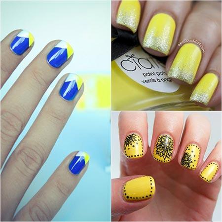 Маникюр желтым лаком - желтый дизайн ногтей