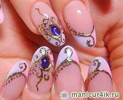 Дизайн ногтей жидкие камни - воплощение роскоши в маникюре
