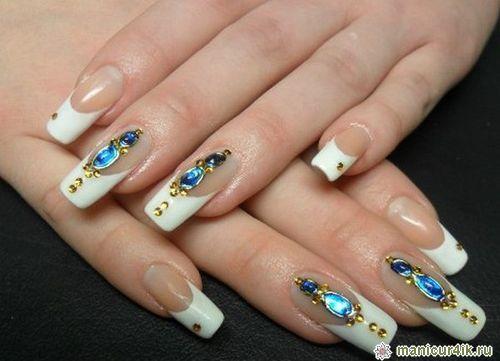 Жидкие камни для дизайна ногтей видео