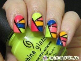 Геометрический дизайн ногтей - маникюр геометрические рисунки