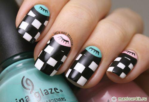 Дизайн коротких ногтей гель-лаком Make-Style 246