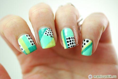 Дизайн ногтей линиями фото