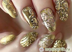 Дизайн ногтей литье - изысканный маникюр