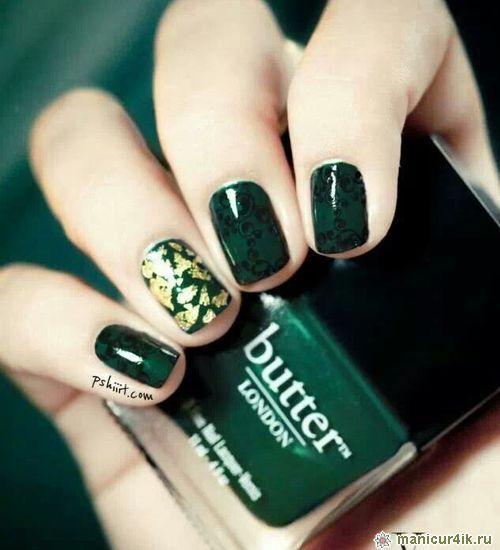 Зеленый ногти дизайн фото