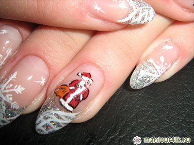 Фото дизайна ногтей черный с красным