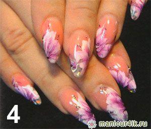 Абстракция в дизайне ногтей