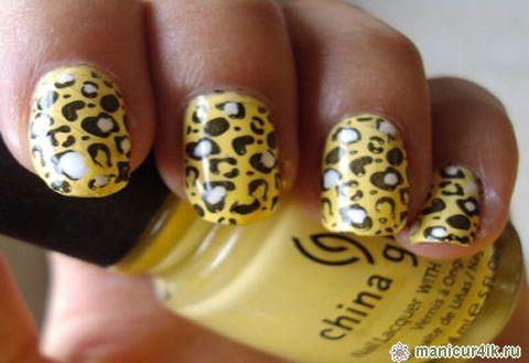 Маникюр в стиле леопард