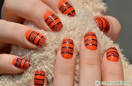 геометрический дизайн ногтей: