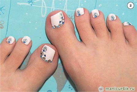 Ногти дизайн фото 2016-2017 на ногах