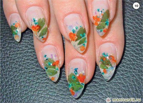 Фото дизайна нарощенных ногтей средней длины
