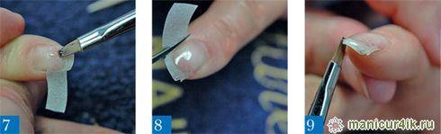 Ремонт гелем ногтя