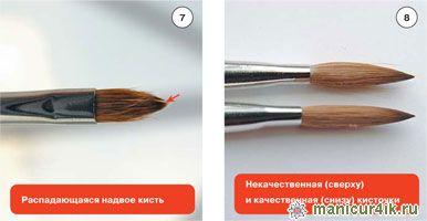 кисти для дизайна ногтей, кисти для моделирования ногтей
