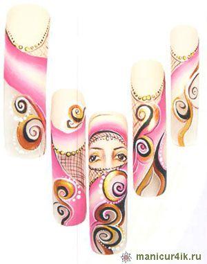 Дизайн гелями разного цвета