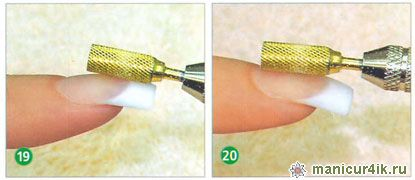 коррекция ногтей, фрезер
