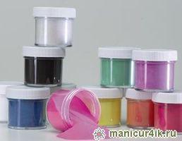 Использование цветных акриловых пудр в дизайне ногтей