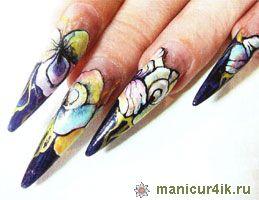 Модный дизайн гелевых ногтей лето 2014г