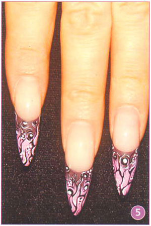 дизайн ногтей с растяжкой блестками фото